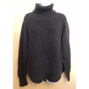 Wilfred Free gray Merino wool turtleneck sweater